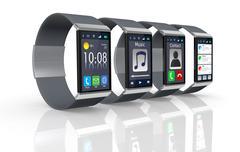 smartwatch - stock illustration