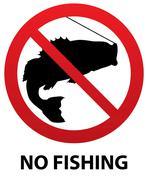 no fishing sign - stock illustration