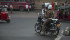Policeman in Tangalle Stock Footage