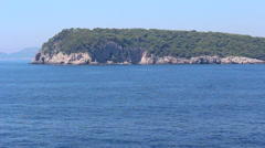 Sailing by Mediterranean Island 2 Stock Footage
