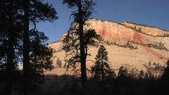 Pan of Zion National Park - Utah in Morning Stock Footage