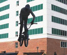 Pyöräily äärimmäinen bmx Kuvituskuvat