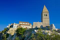 Stone town of lubenice in croatia Stock Photos