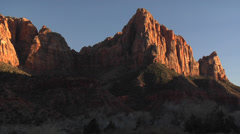 Sunset Time Lapse - the Watchman - Zion National Park Stock Footage
