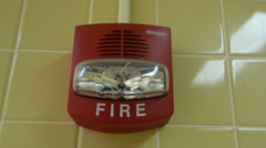 Fire alarm flashing flash Stock Footage