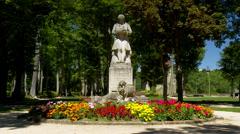 Statue of Louis-Jean-Marie Daubenton - Montbard, France  Stock Footage