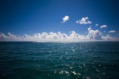 Horizon with clouds at sea Stock Photos
