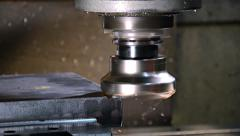 milling machine, edited sequence - stock footage