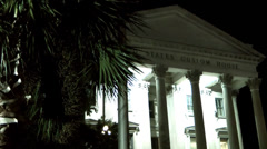 Charleston 050HD United States Custom House at Night Stock Footage