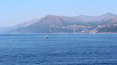 Boat off of the Croatian Coast Stock Footage