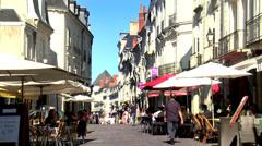 Rue du Commerce (1) - Tours France Stock Footage