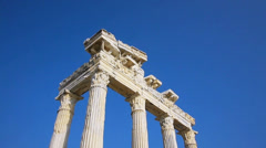 Temple of Apollo ruins in Side, Turkey Stock Footage