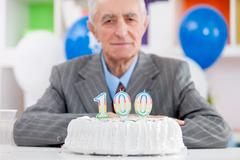 hundredth birthday - stock photo