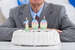 one hundred birthday - stock photo