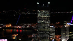 Pittsburgh Aerial Highmark and PPG Stock Footage