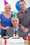 birthday with family - stock photo