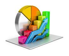 Stock Illustration of statistics concept