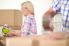 Women packing Stock Photos