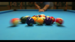 Pool Table w/sound - Stock Video Stock Footage