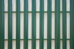 back side of the metal fence - stock photo