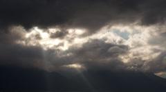 Dark sky timelapse Stock Footage