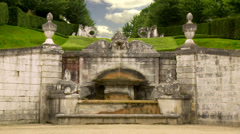 Fountain at Château de Bizy - Vernon France Stock Footage