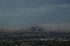 LA Skyline West WS Stock Footage
