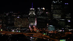 Pittsburgh Aerial View from South Side Stock Footage