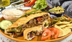 Tacos w pork meat Stock Photos