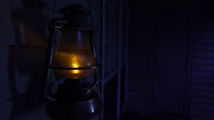 Haunted Cabin w/ Swinging Kerosene Lamp - stock footage