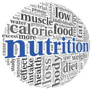 Nutrition concept in tag cloud Stock Illustration