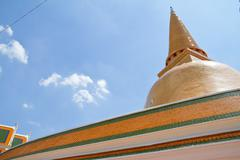 Phra pathom chedi, the tallest stupa in the world. it is located in the town  Stock Photos