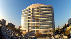 Ronald Reagan Federal Building and Courthouse Santa Ana Stock Footage