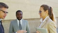 Business circle - stock footage