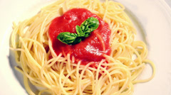 Italian pasta dishes Stock Footage