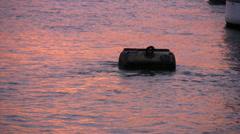 Sunset mikä on Thames-joen Lontoossa Arkistovideo