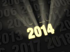 Stock Illustration of bright new year 2014