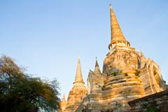 Wat Phra Sri Sanphet Temple, Ayutthaya Province, Thailand - stock photo