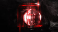 Red emergency light Stock Footage