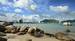 Bay Chong Rock . NhaTrang,Vietnam Stock Footage