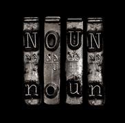 noun word - stock photo