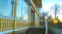 Princess Eugenie Augusta Amalia Albertina  Summer home on Gotland,Sweden Stock Footage