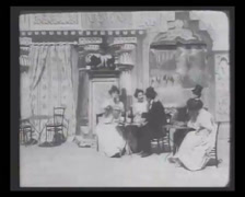 1901 - Theater Play - History Of Crime - Arresting 01 - stock footage
