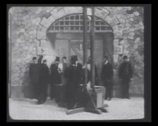 1901 - Theater Play - History Of Crime - Execution 01 - stock footage