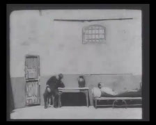 1901 - Theater Play - History Of Crime - Prisoner 01 Stock Footage