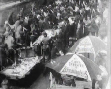 1903 - New York Ghetto - Fish Market - 01 Stock Footage