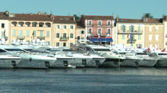 Saint-Tropez Harbor Stock Footage