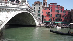 Venice - Rialto Bridge Stock Footage