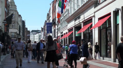 Dublin Ireland - Grafton Street - stock footage