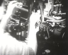 1918 - 1945 - Women Working Wartime - Metal Factory - 02 Stock Footage